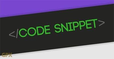 Code Snippet Module Plugin