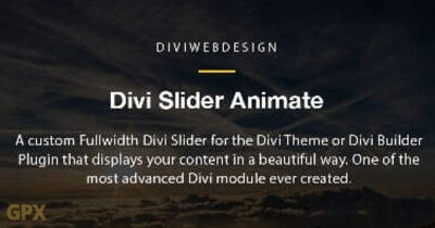 Divi Slider Animate Plugin