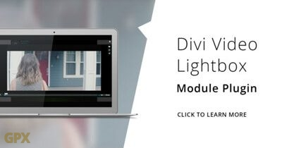 Divi Video Lightbox Plugin