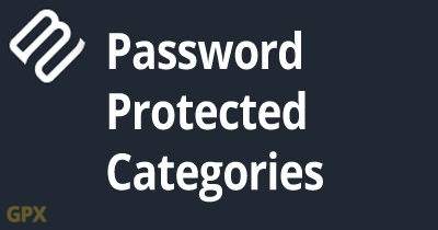Password Protected Categories Plugin