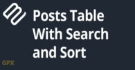 Posts Table With Search And Sort Plugin