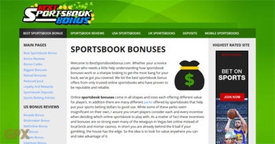 Best Sports Book Bonus