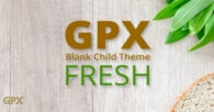 GPX Fresh Blank Child Theme